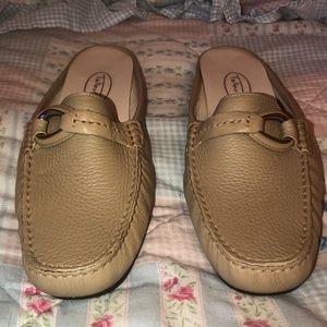 Talbots leather loafer slides